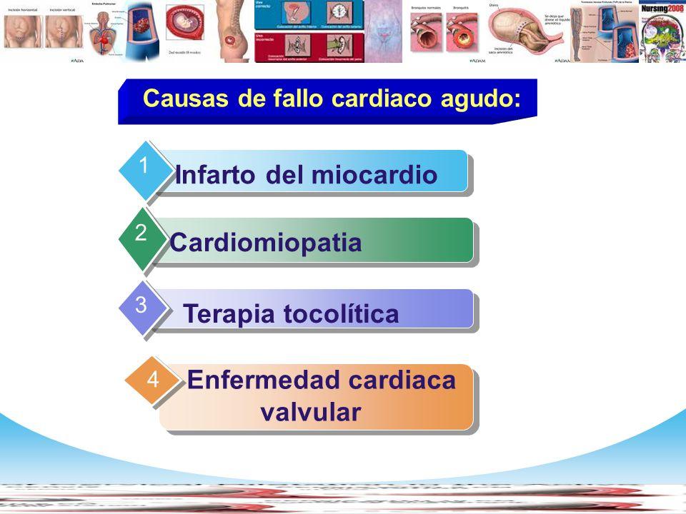 Causas de fallo cardiaco agudo: Enfermedad cardiaca valvular