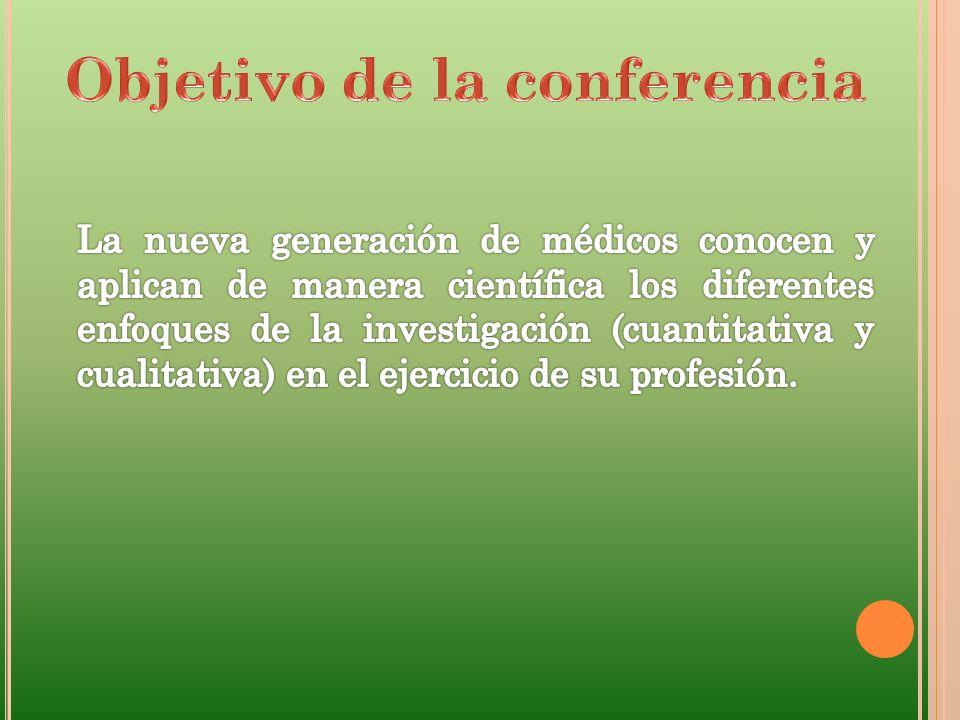 Objetivo de la conferencia