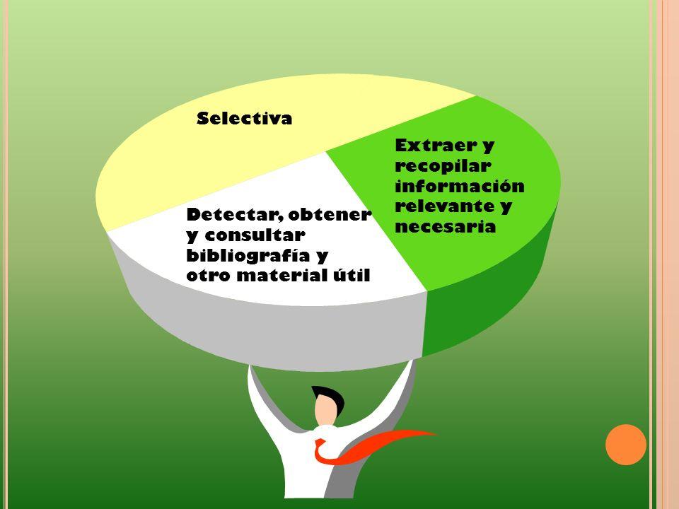 Detectar, obtener y consultar bibliografía y otro material útil