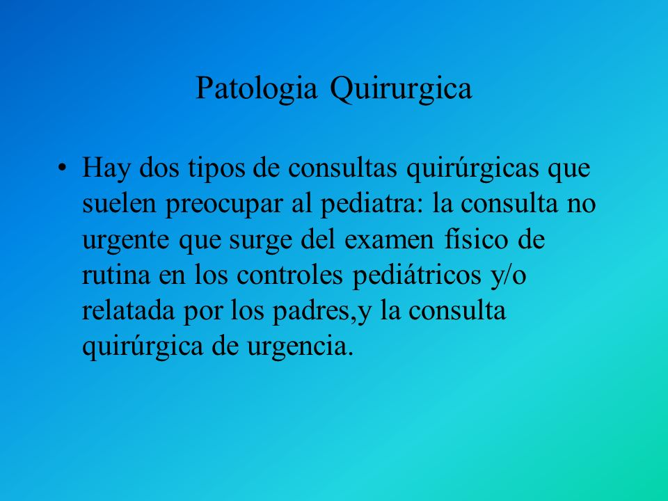 Patologia Quirurgica
