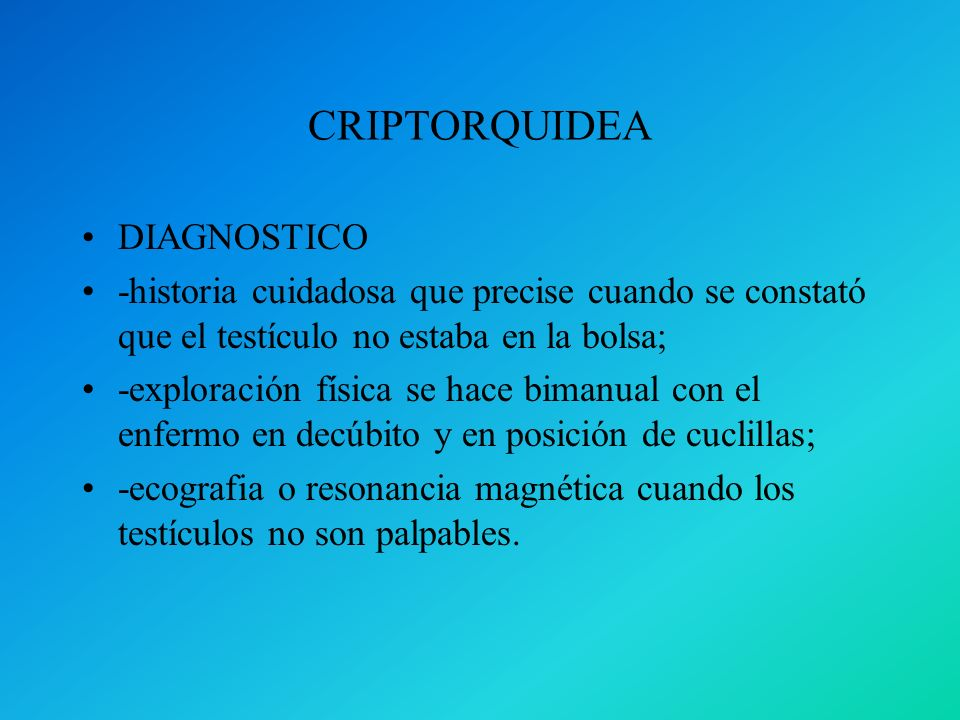 CRIPTORQUIDEA DIAGNOSTICO