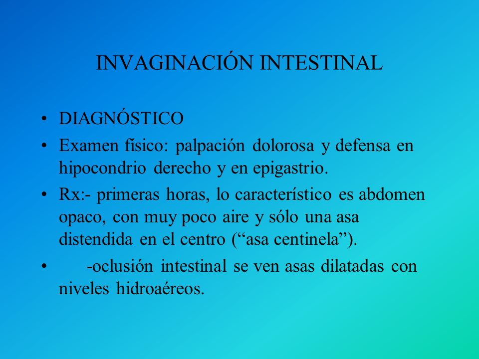 INVAGINACIÓN INTESTINAL