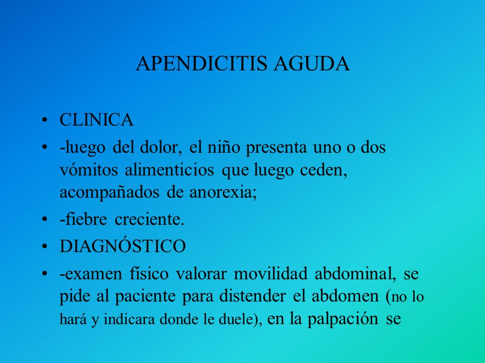 APENDICITIS AGUDA CLINICA