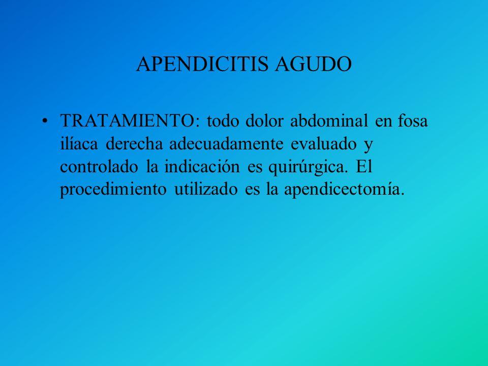 APENDICITIS AGUDO