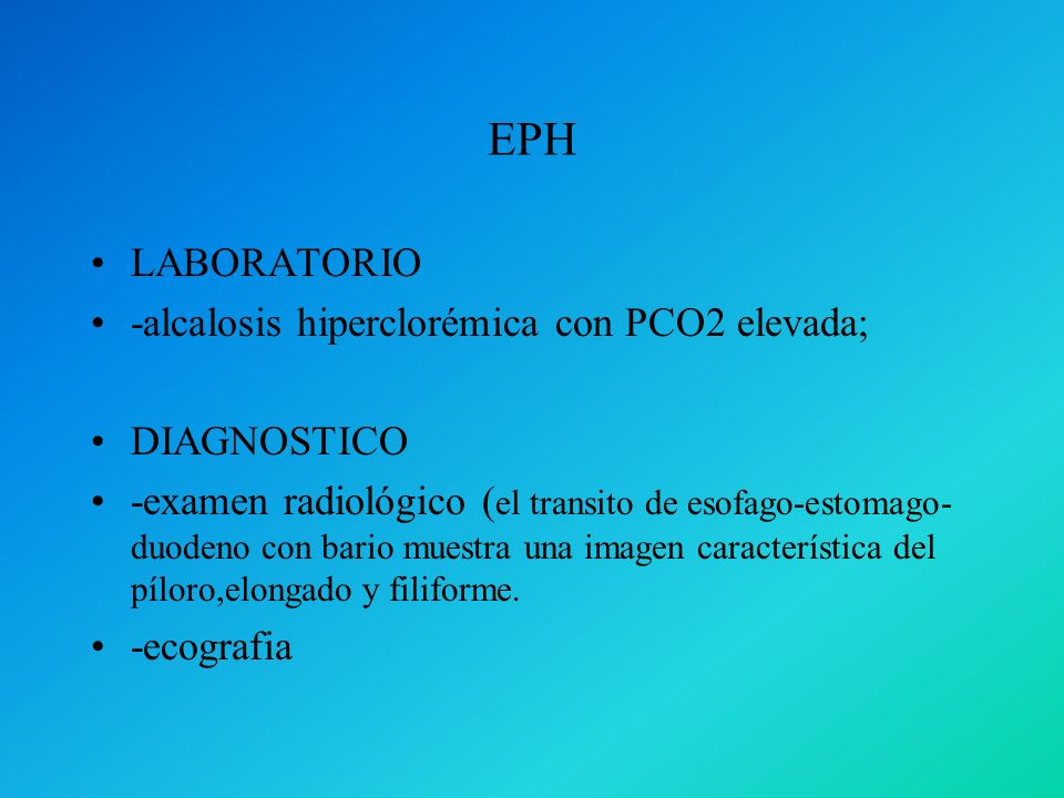 EPH LABORATORIO -alcalosis hiperclorémica con PCO2 elevada;