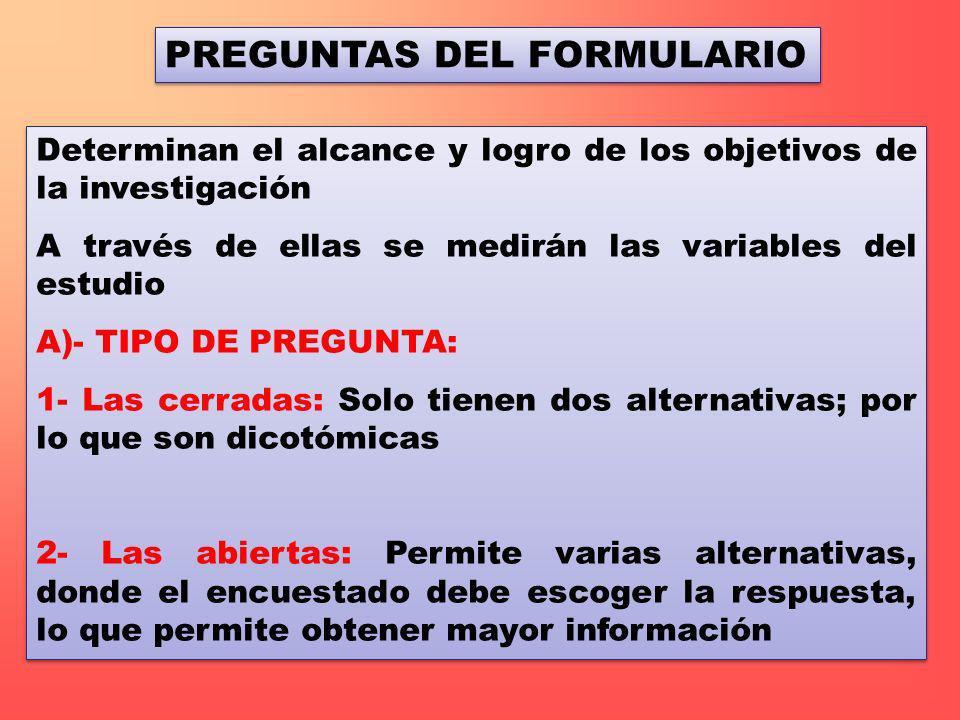 PREGUNTAS DEL FORMULARIO