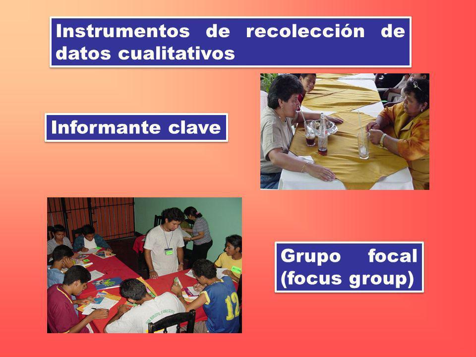 Instrumentos de recolección de datos cualitativos