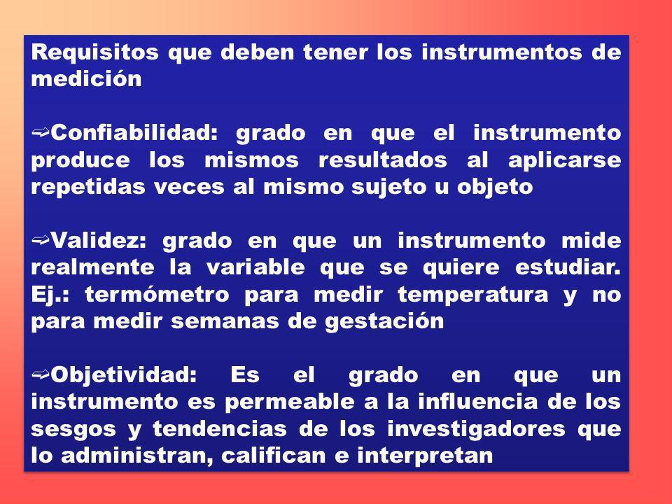 Requisitos que deben tener los instrumentos de medición