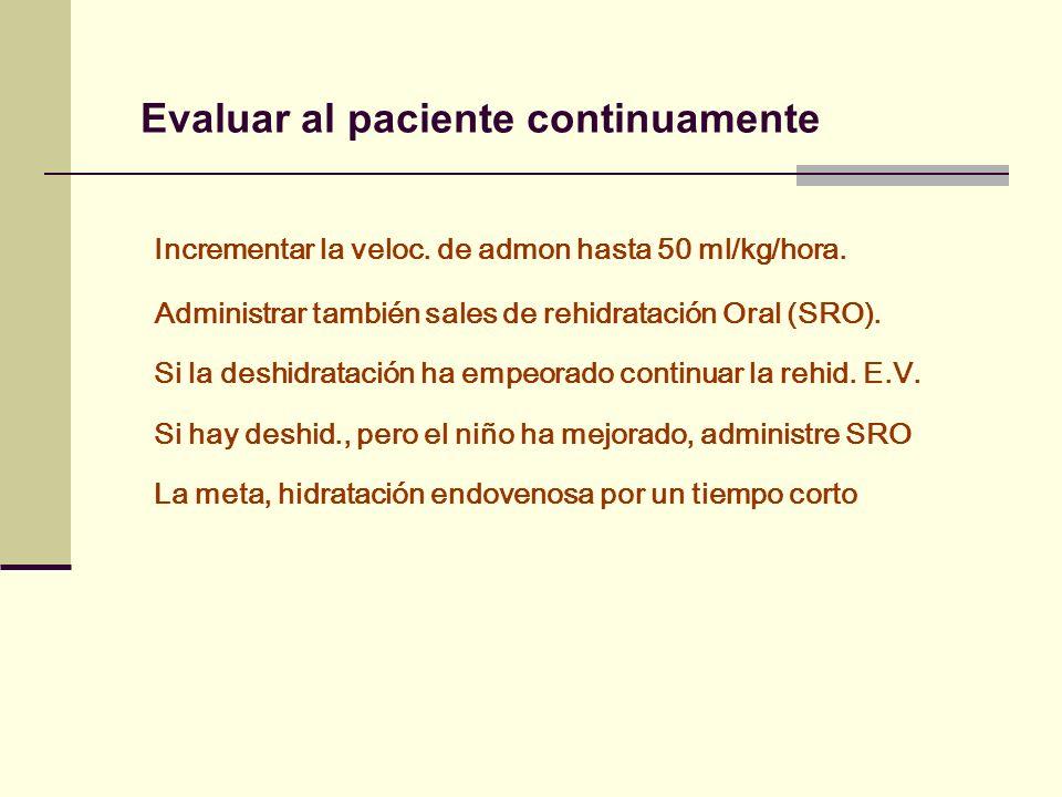 Evaluar al paciente continuamente