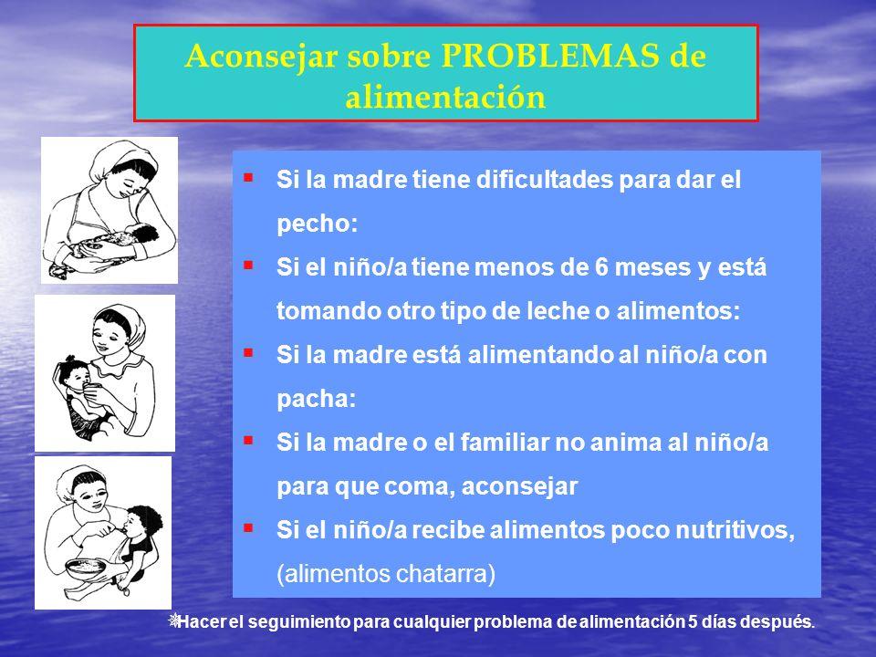 Aconsejar sobre PROBLEMAS de alimentación