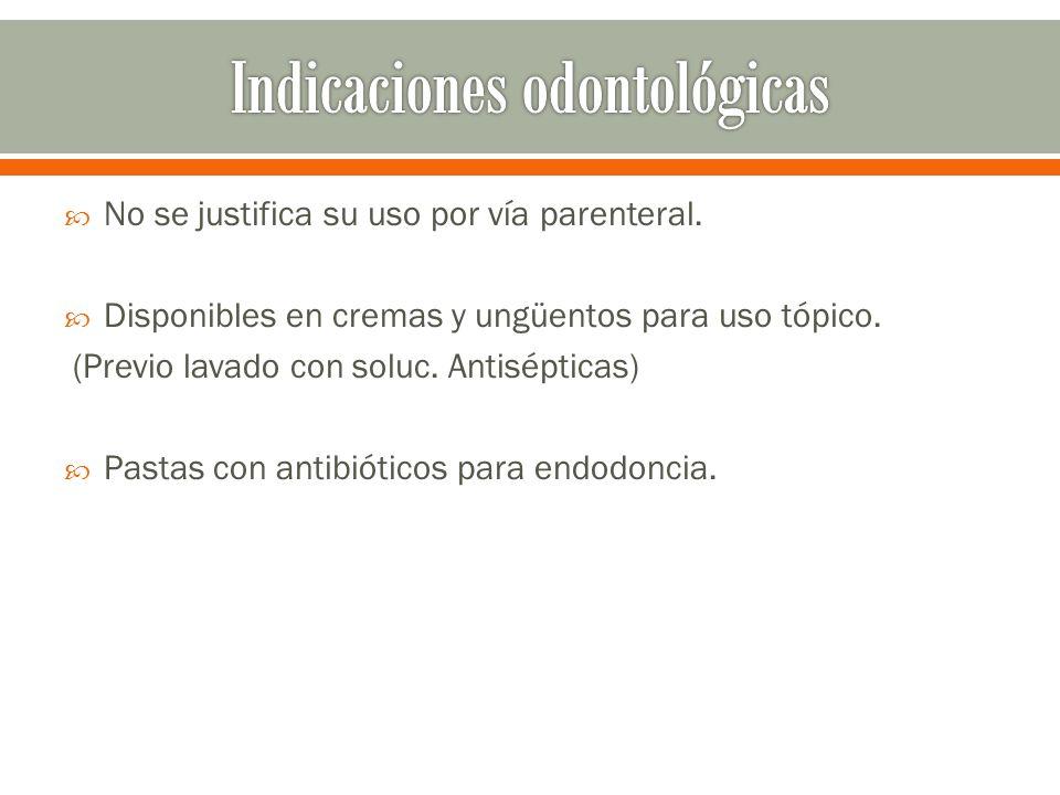 Indicaciones odontológicas