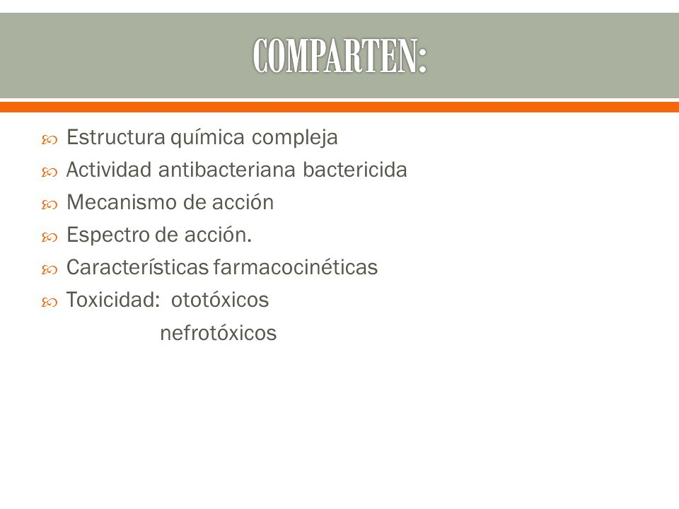 COMPARTEN: Estructura química compleja