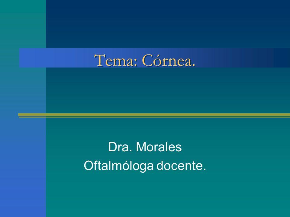 Dra. Morales Oftalmóloga docente.