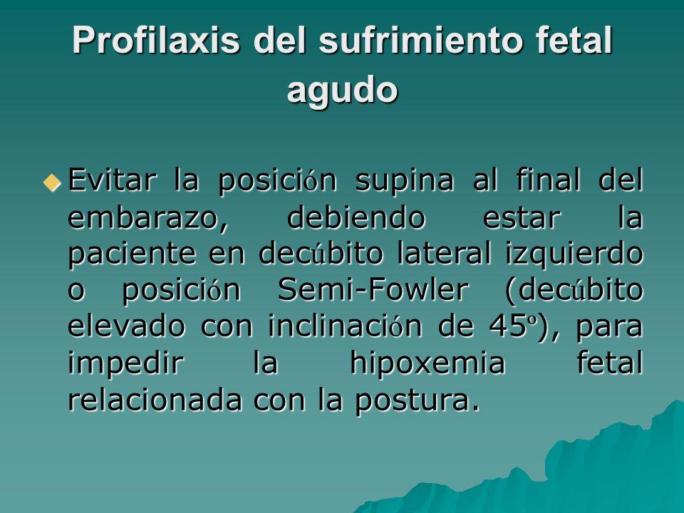 Profilaxis del sufrimiento fetal agudo