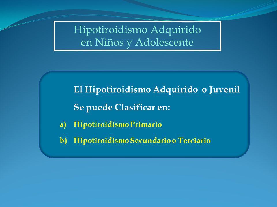 Hipotiroidismo Adquirido
