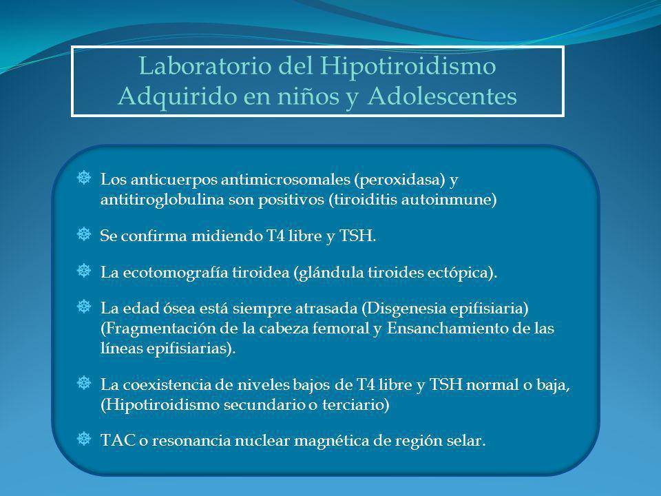 Laboratorio del Hipotiroidismo Adquirido en niños y Adolescentes