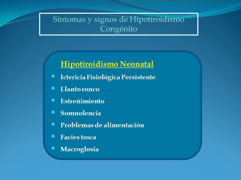 Síntomas y signos de Hipotiroidismo