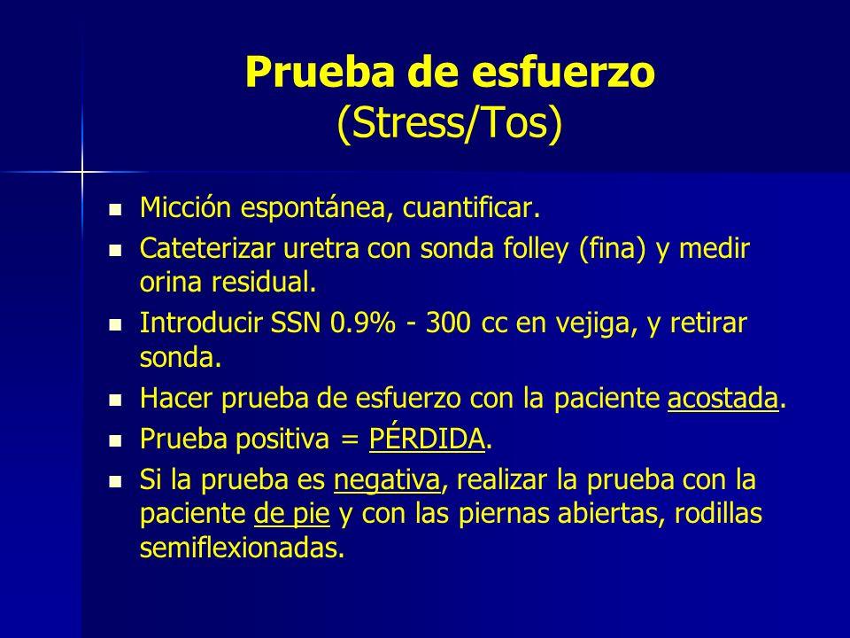 Prueba de esfuerzo (Stress/Tos)