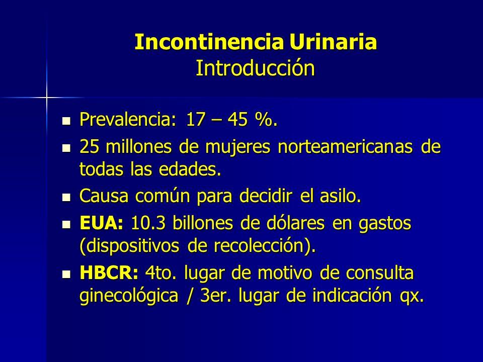 Incontinencia Urinaria Introducción