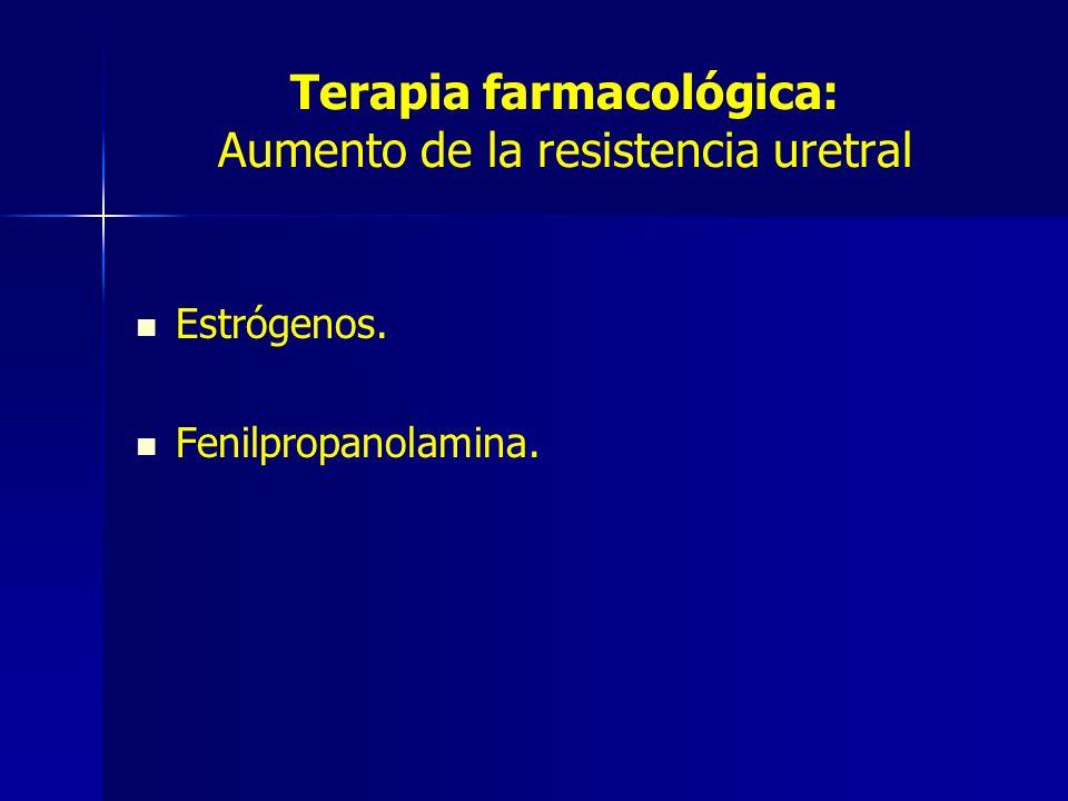 Terapia farmacológica: Aumento de la resistencia uretral