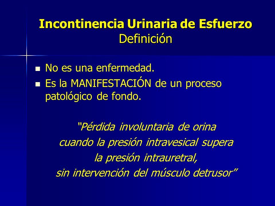 Incontinencia Urinaria de Esfuerzo Definición