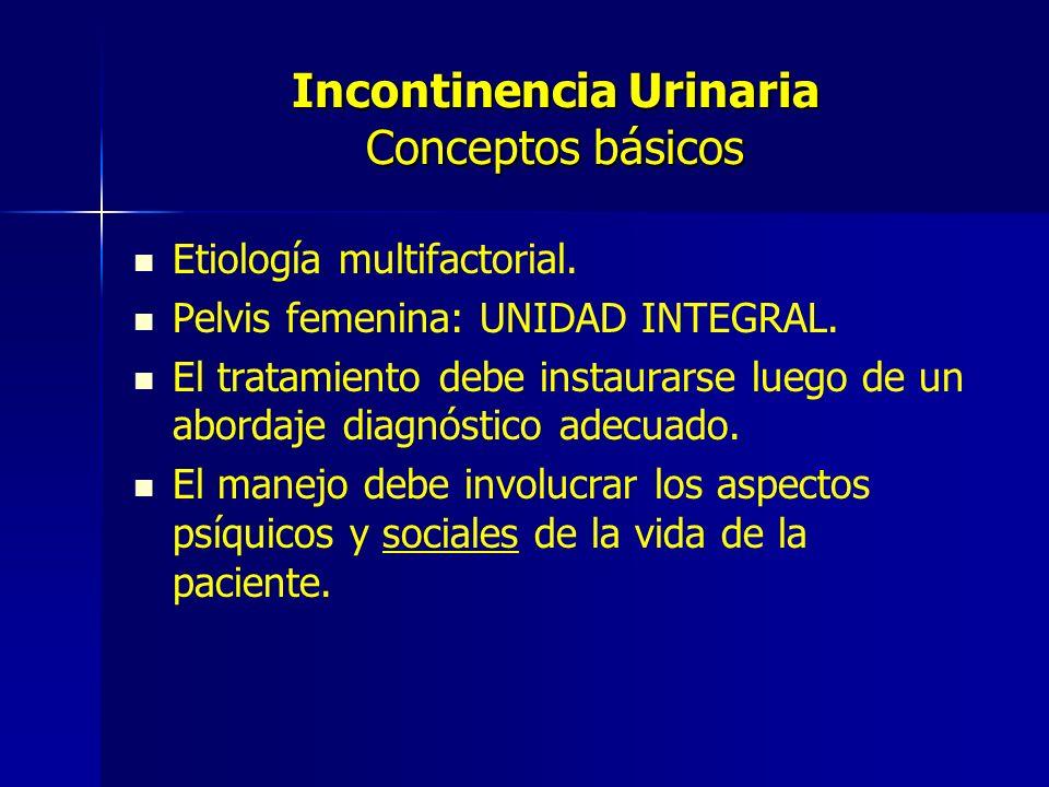 Incontinencia Urinaria Conceptos básicos