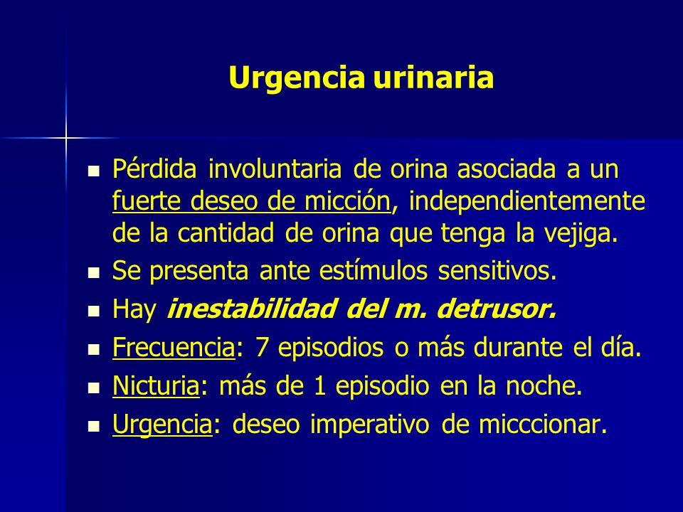 Urgencia urinaria