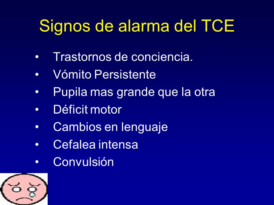 Signos de alarma del TCE