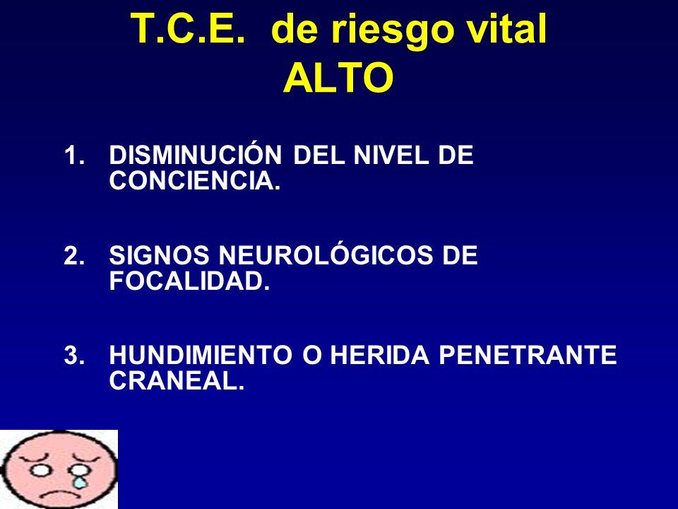 T.C.E. de riesgo vital ALTO