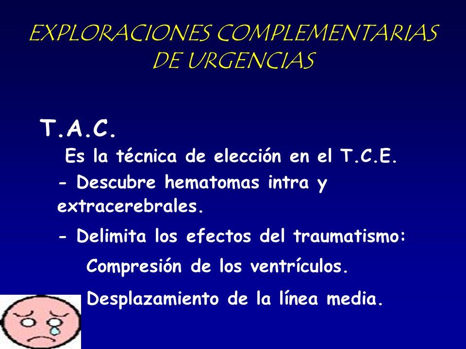 EXPLORACIONES COMPLEMENTARIAS DE URGENCIAS
