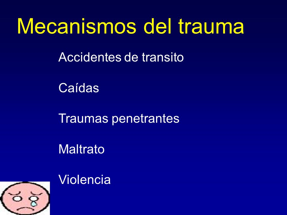 Mecanismos del trauma Accidentes de transito Caídas