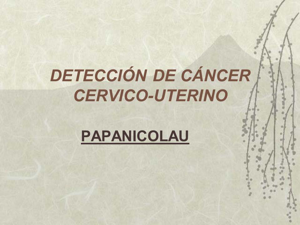 DETECCIÓN DE CÁNCER CERVICO-UTERINO