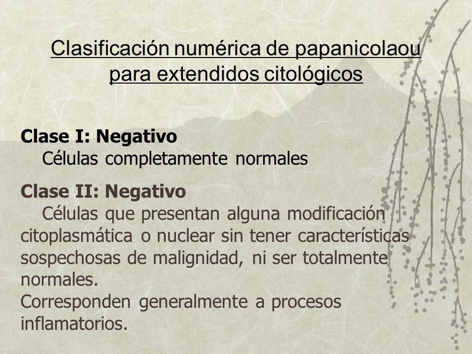 Clasificación numérica de papanicolaou para extendidos citológicos