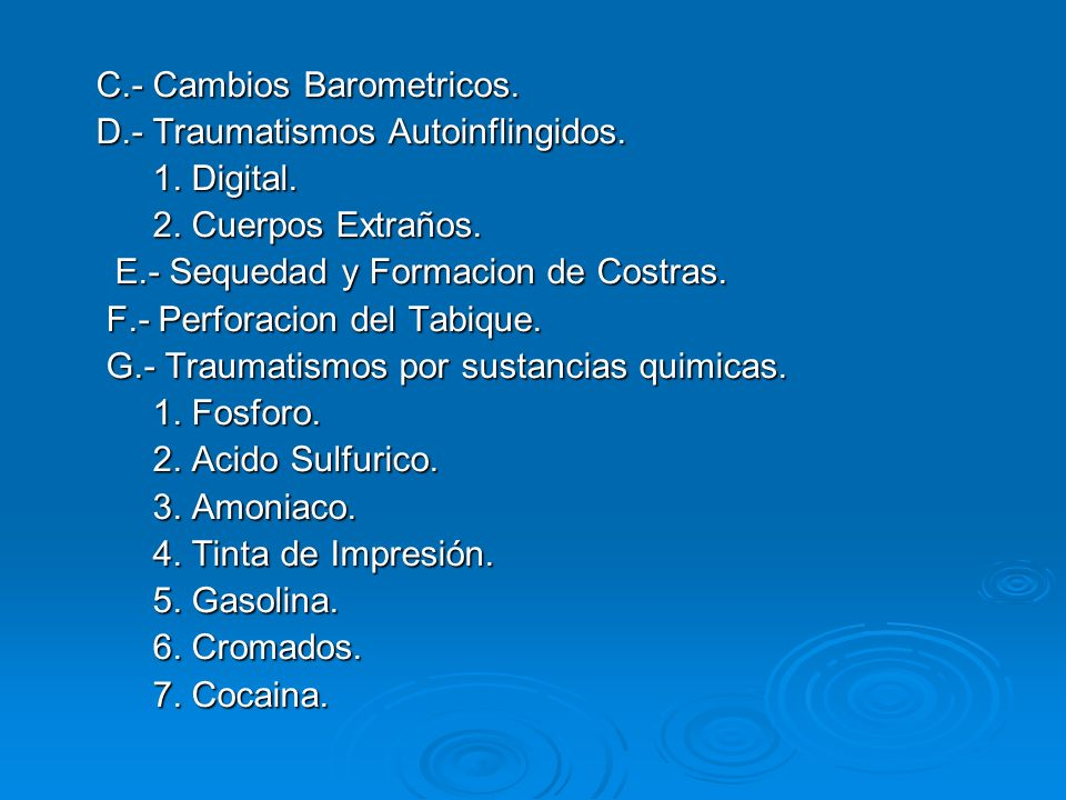 C.- Cambios Barometricos.