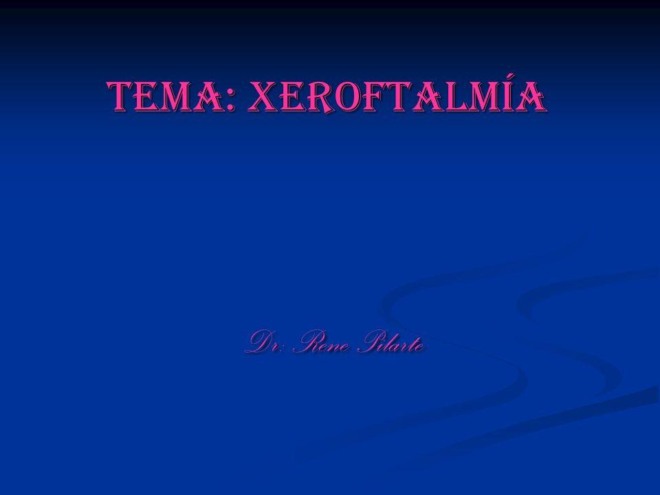 Tema: Xeroftalmía Dr: Rene Pilarte