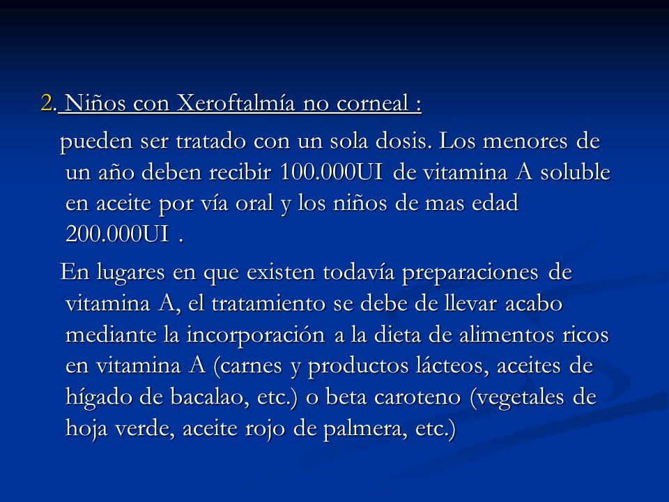 2. Niños con Xeroftalmía no corneal :