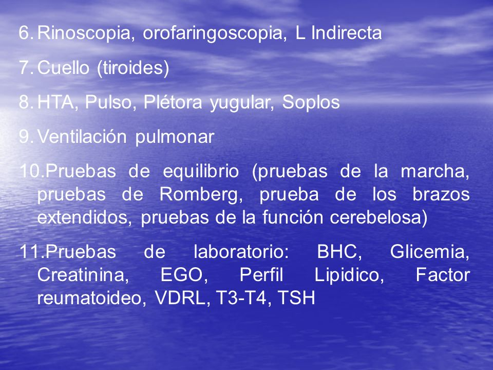 Rinoscopia, orofaringoscopia, L Indirecta