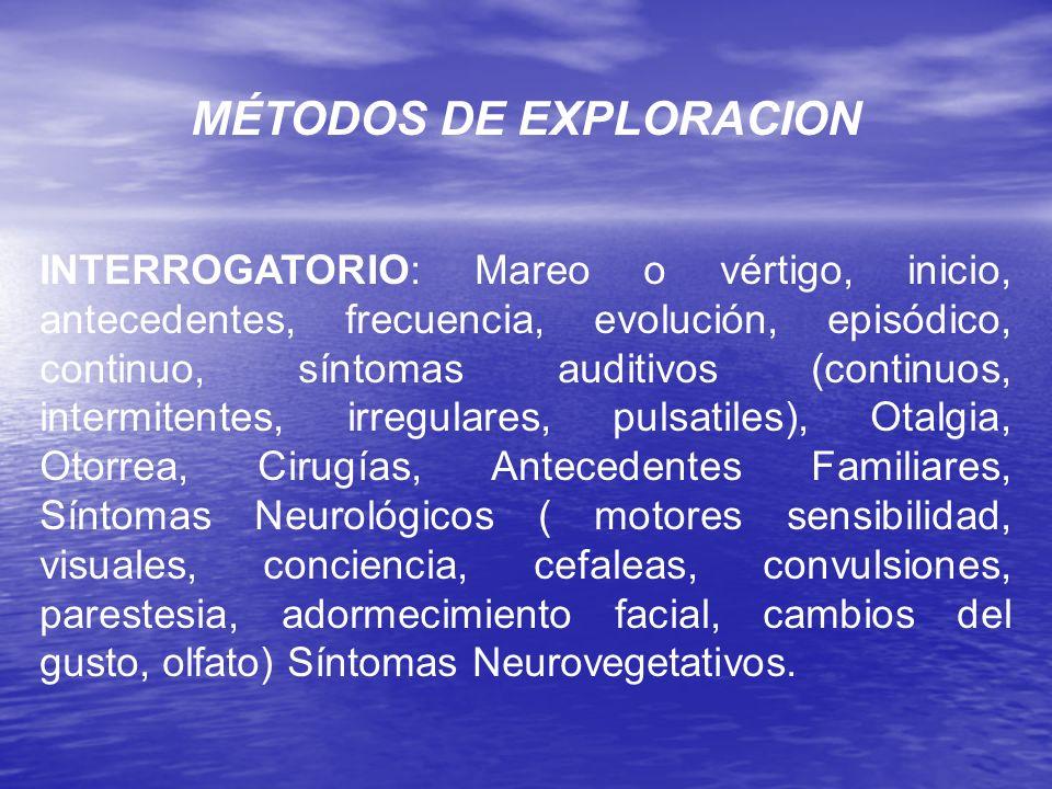 MÉTODOS DE EXPLORACION