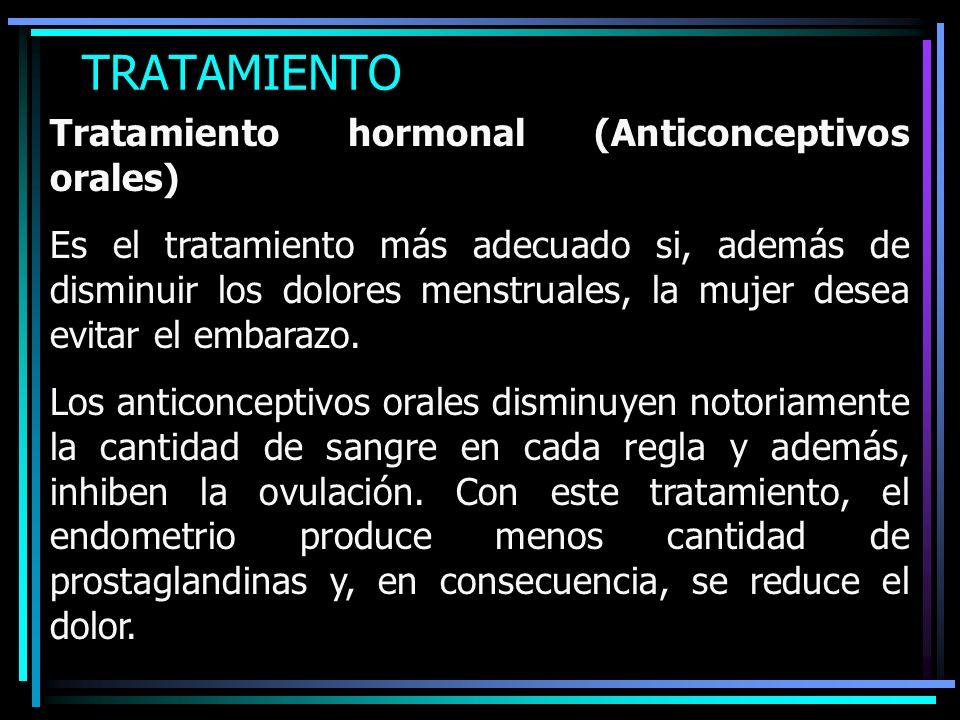 TRATAMIENTO Tratamiento hormonal (Anticonceptivos orales)