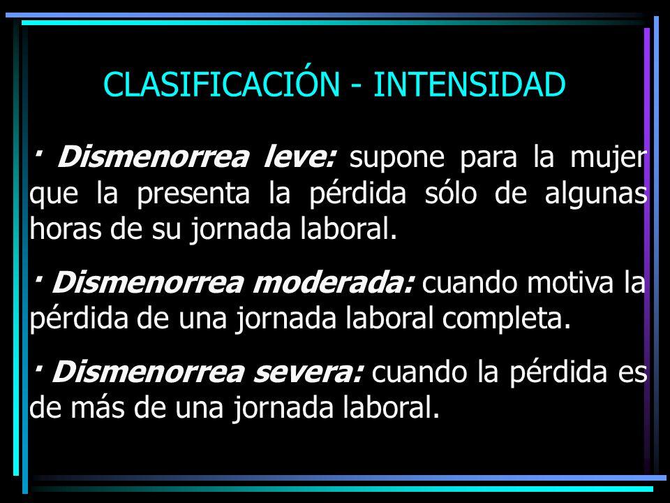 CLASIFICACIÓN - INTENSIDAD