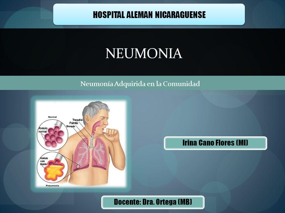 NEUMONIA HOSPITAL ALEMAN NICARAGUENSE Irina Cano Flores (MI)