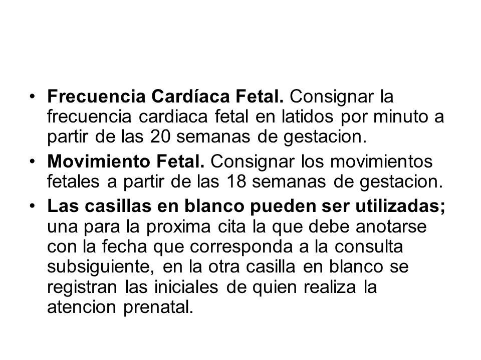 Frecuencia Cardíaca Fetal