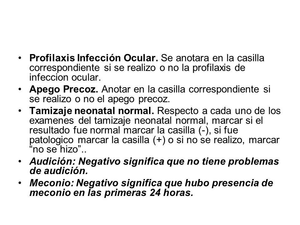 Profilaxis Infección Ocular