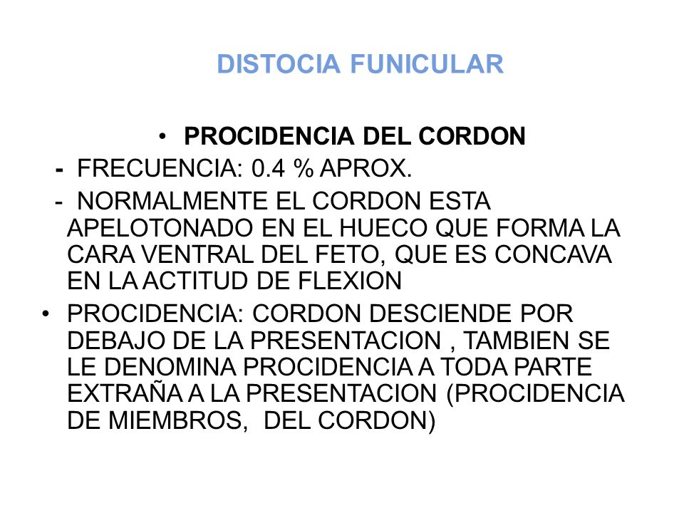 PROCIDENCIA DEL CORDON