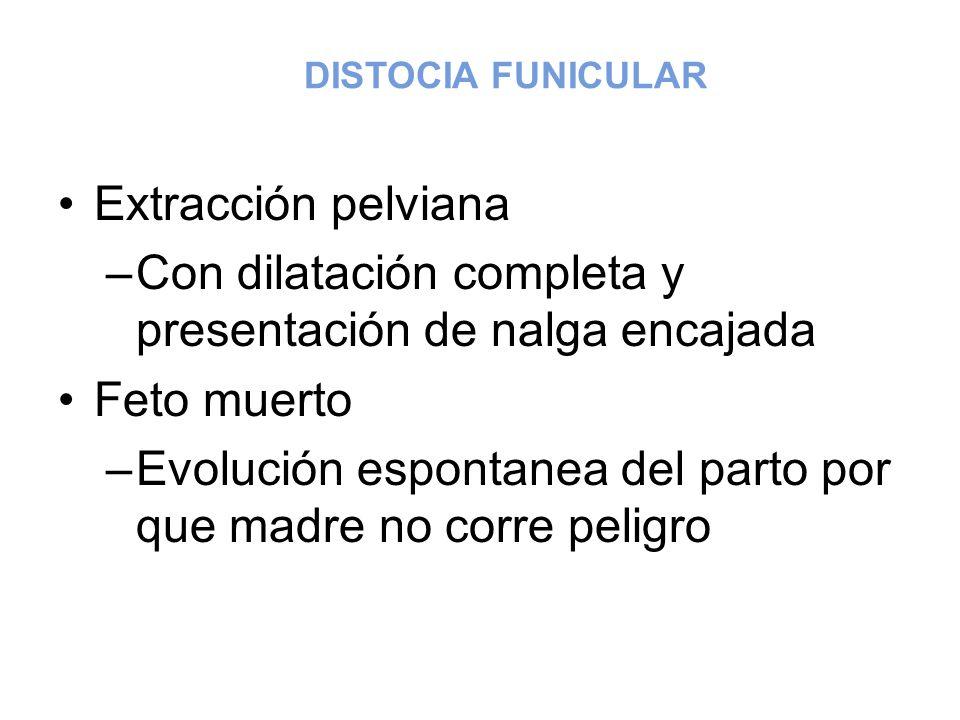 Con dilatación completa y presentación de nalga encajada Feto muerto