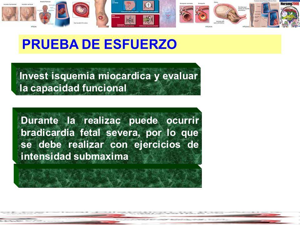 PRUEBA DE ESFUERZO coagulopatías (12%)