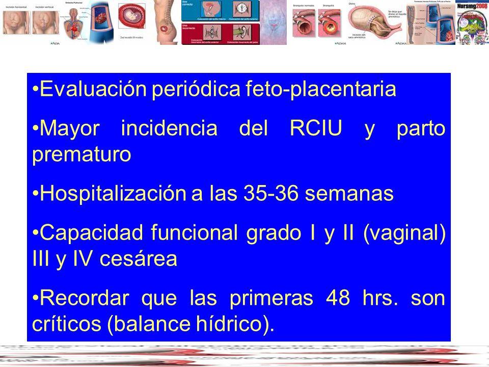 Evaluación periódica feto-placentaria