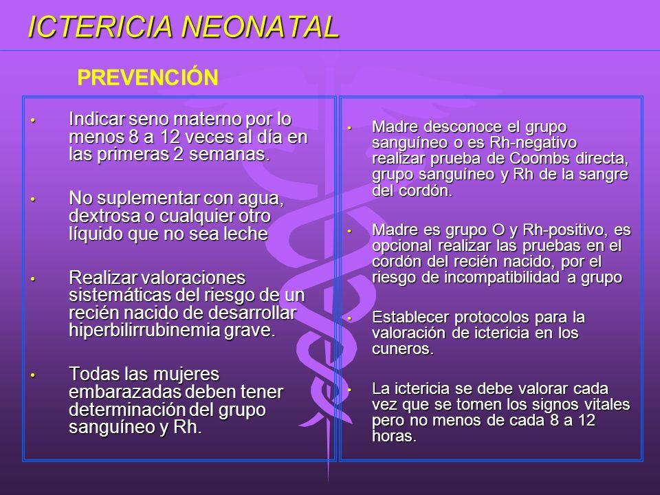 ICTERICIA NEONATAL PREVENCIÓN