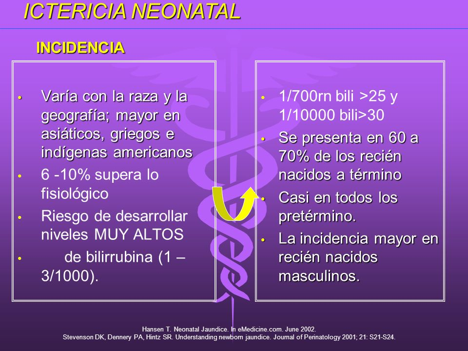 Hansen T. Neonatal Jaundice. In eMedicine.com. June 2002.
