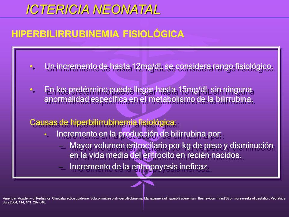 HIPERBILIRRUBINEMIA FISIOLÓGICA